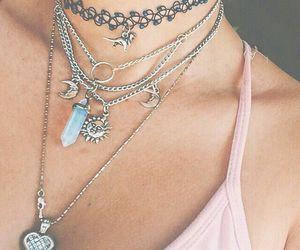 necklace, grunge, and choker image