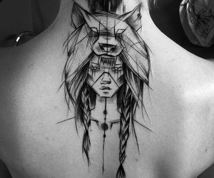 art, black and white, and Tattoos image