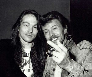 axl rose, david bowie, and rock image
