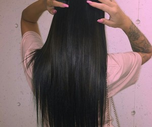 hair, nails, and pink image