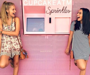 girls, cupcakes, and fashion image