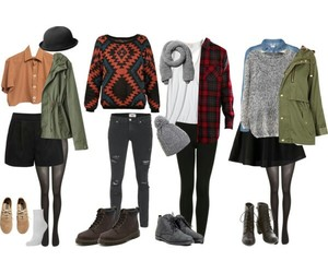 outfit, hipster, and indie image