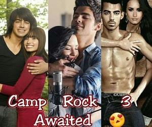 camp rock, Joe Jonas, and demi lovato image