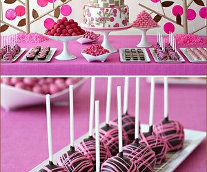 pink, sweets, and party ideas image