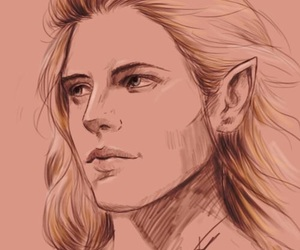 draw, lord of the rings, and elves image