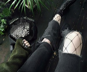 black, green, and alternative image