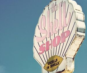 shell, retro, and pink image