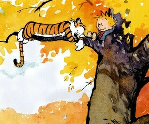 Calvin & Hobbes, yellow, and bill watterson image