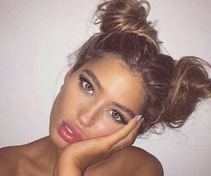 beauty, buns, and tumblr image