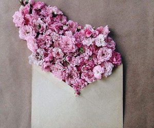 flowers, Letter, and spring image