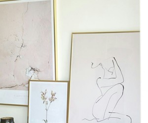 art, beige, and interior image