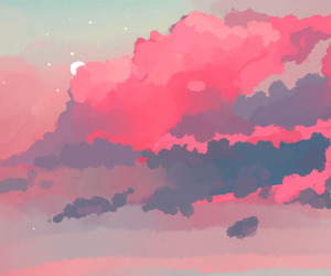 clouds, pastel, and wallpaper image