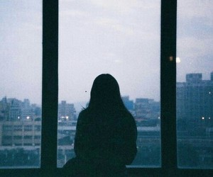 girl, alone, and city image