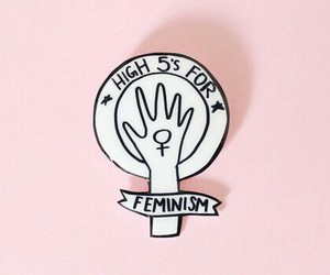 feminism, pink, and feminist image