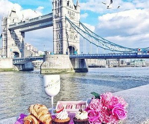 london, flowers, and pink image