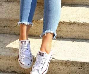 converse, girly, and heart image