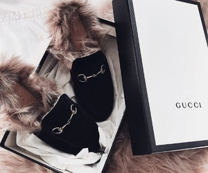 fashion, slides, and gucci image