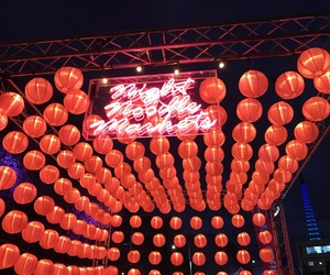 chinese lanterns, colourful, and pink image