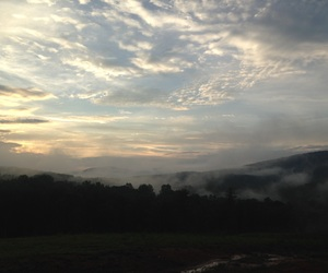 clouds, mist, and mountain image