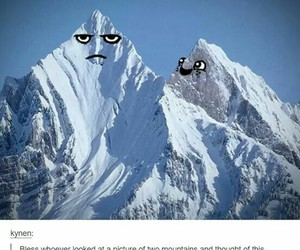 funny and mountains image