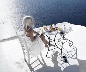 breakfast, sea, and girl image