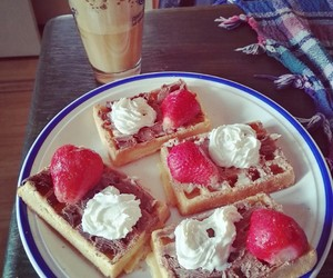 brunch, strawberry, and chocolate image