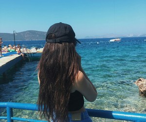 girl, long hair, and summer image