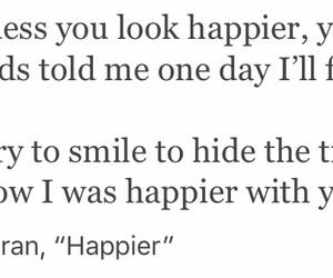 happy, ed sheeran, and hide image