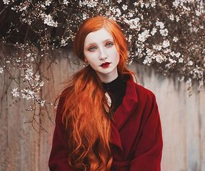 goth, orange hair, and victorian image