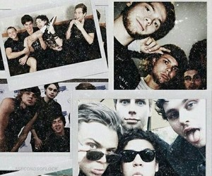 luke hemmings, michael clifford, and 5 seconds of summer image