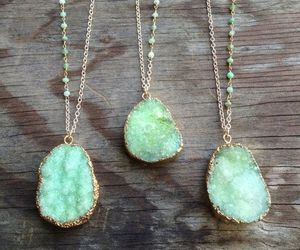necklace, green, and jewelry image