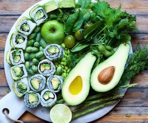 apple, avocado, and beans image