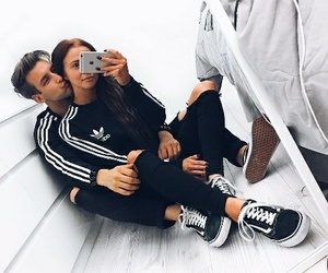 couple, adidas, and goals image