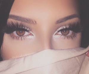 makeup, girl, and eyes image