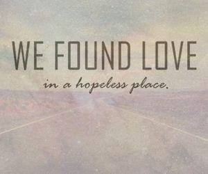 love, rihanna, and we found love image