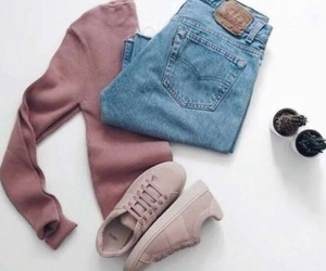 clothes, jean, and shoes image