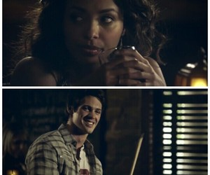 the vampire diaries, bonnie bennet, and jeremy gilbert image