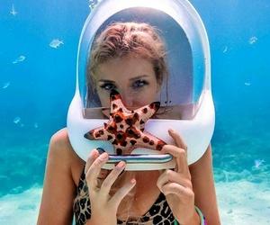girl, pretty, and sea image