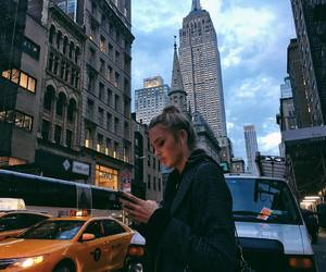 city, romee strijd, and style image