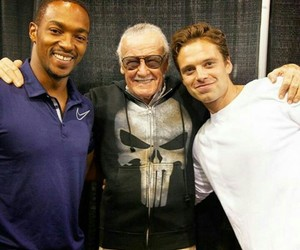 sebastian stan, stan lee, and Marvel image