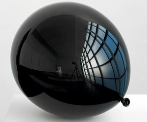 black, balloon, and white image