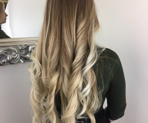 girl, longhair, and wavy image