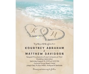 beach, invitations, and wedding image