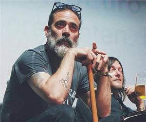 actor, negan, and blue image