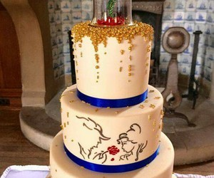 cake, disney, and beauty and the beast image