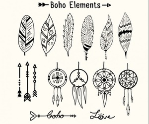 boho, drawing, and dreamcatcher image