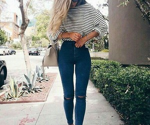 beauty, jeans, and blonde image
