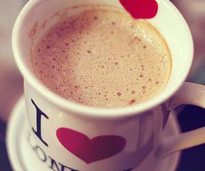 london, coffee, and heart image