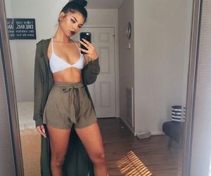 bra, crop top, and shorts image