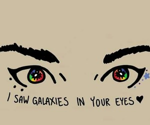 galaxies, eyes, and phrases image